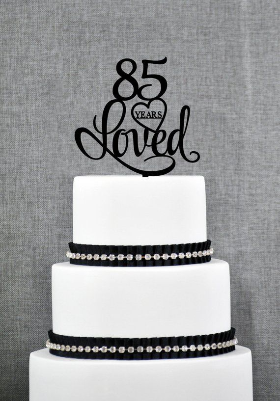 Custom Years Loved Th Birthday Cake Topper Anniversary Party Decorations Also Rh
