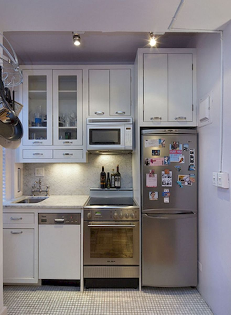 50 Amazing Small Apartment Kitchen Decor Ideas 37 House Design Kitchen Tiny House Kitchen Small Apartment Kitchen