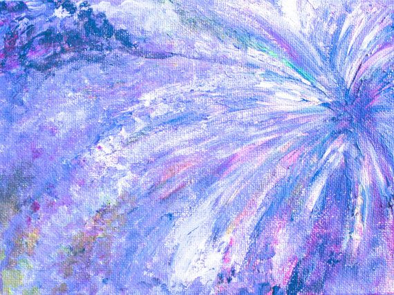 Lackadaisical the Painting, Art print of original abstract acrylic painting, abstract periwinkle and blue artwork