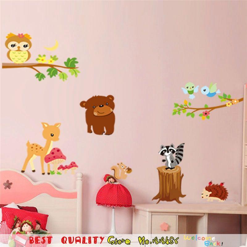 Brown Bears Wall Sticker for Kids Room Home Decor Nursery Wall Decal Children