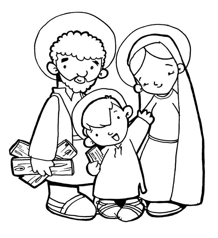 LA SAGRADA FAMILIA DE JESÚS, MARÍA Y JOSÉ PARA PINTAR | Varios ...