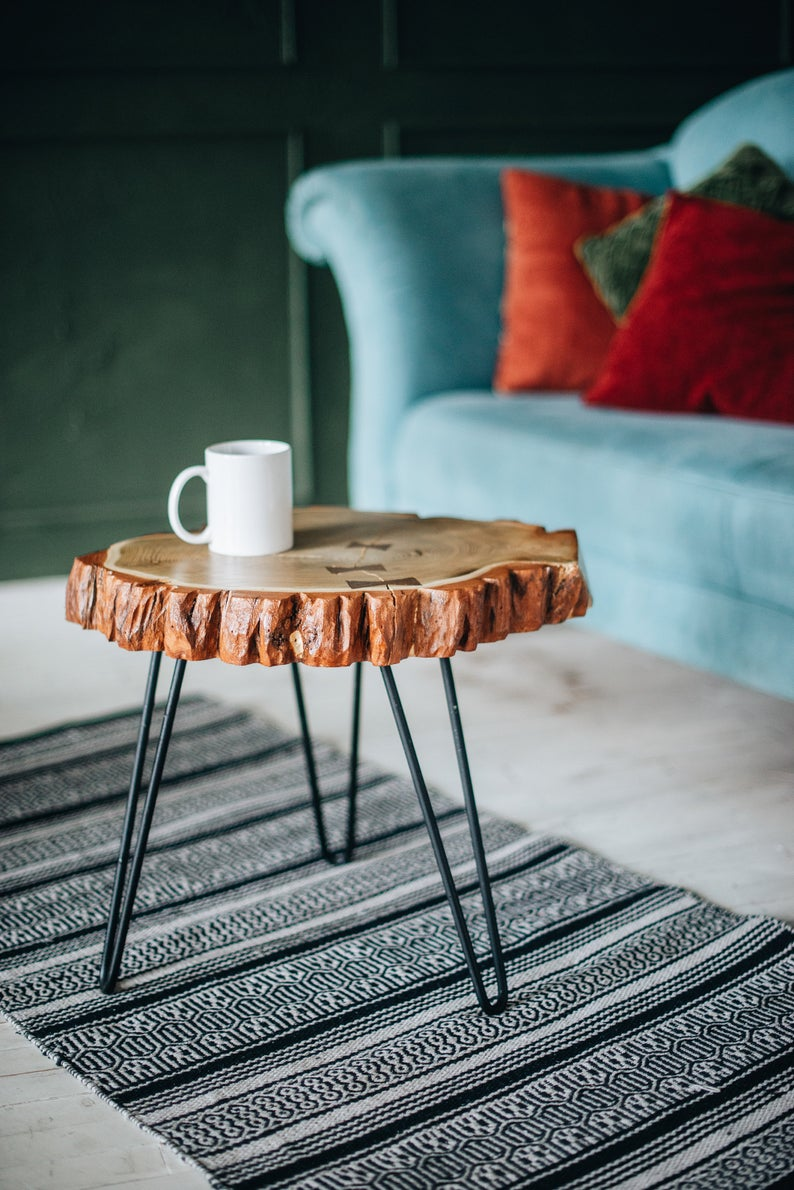 Round Coffee Table Wood Coffee Table Side Coffee Table Live Etsy Coffee Table Wood Round Wood Coffee Table Rustic Coffee Tables [ 1190 x 794 Pixel ]