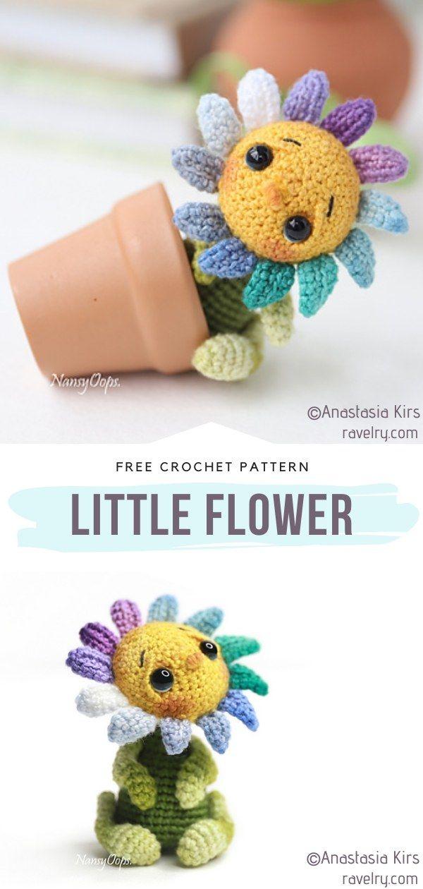 , How to Crochet Little Flower, My Travels Blog 2020, My Travels Blog 2020