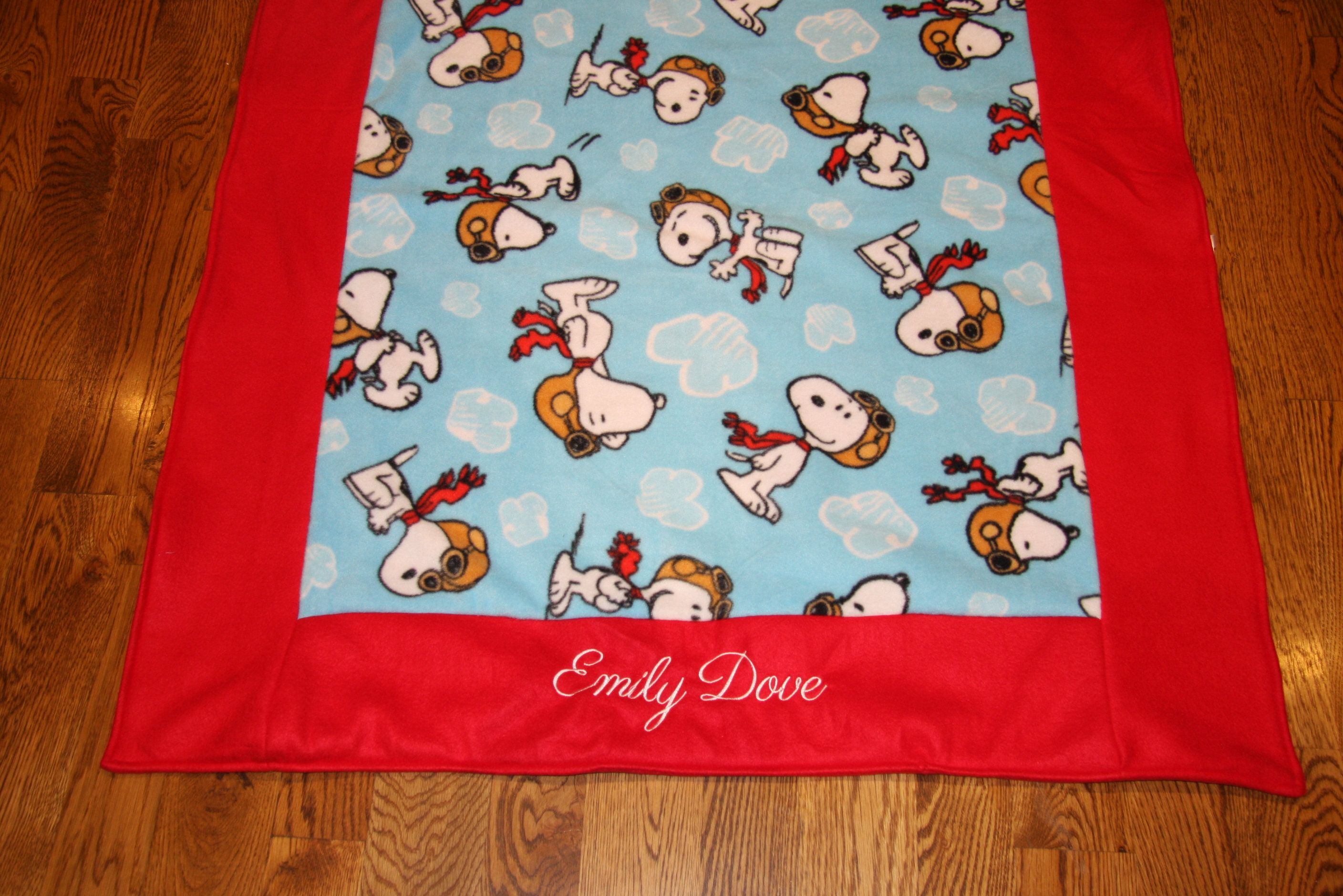 Custom embroidered blankets for Kids fleece personalized childrens blankets  customized kids blankets Disney personalized blankets for