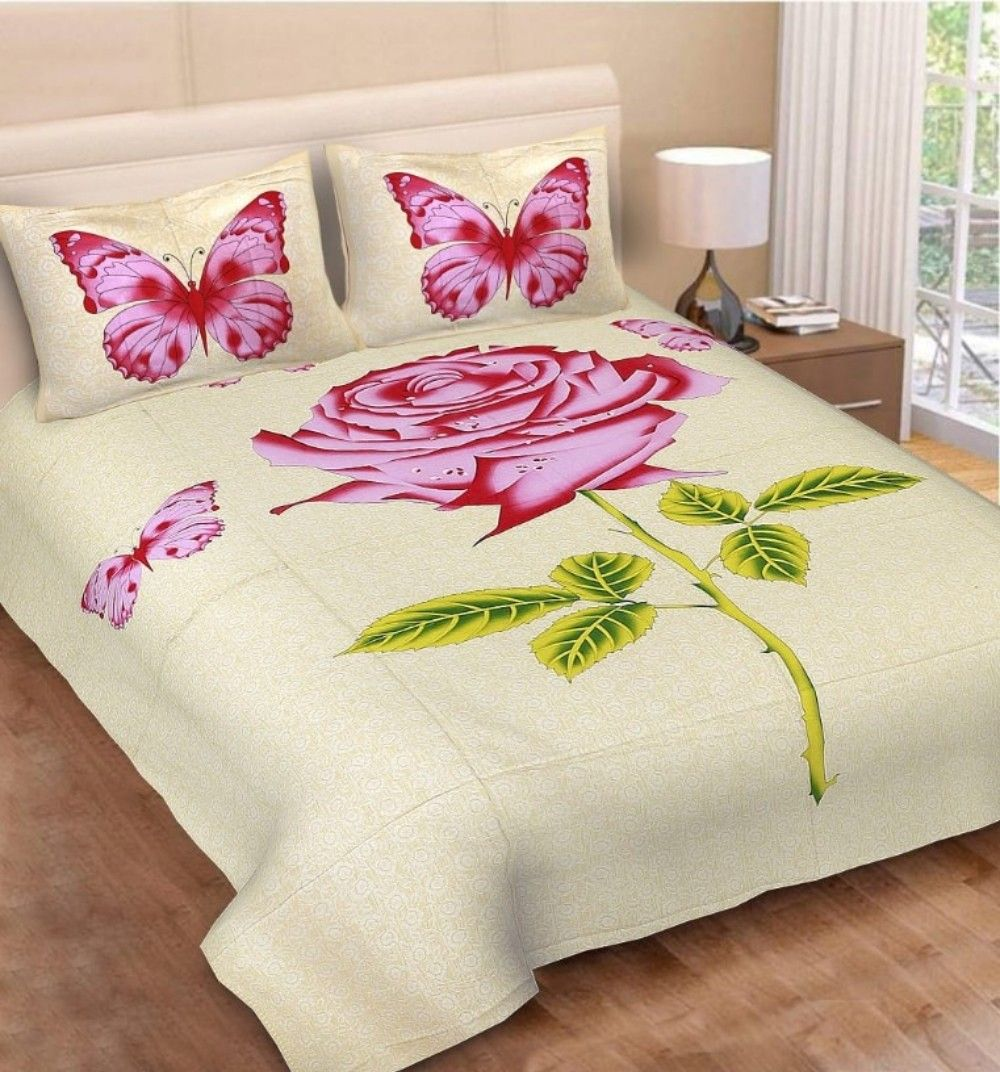 Fabric Cotton Type King Set Content 1 Bedsheet 2