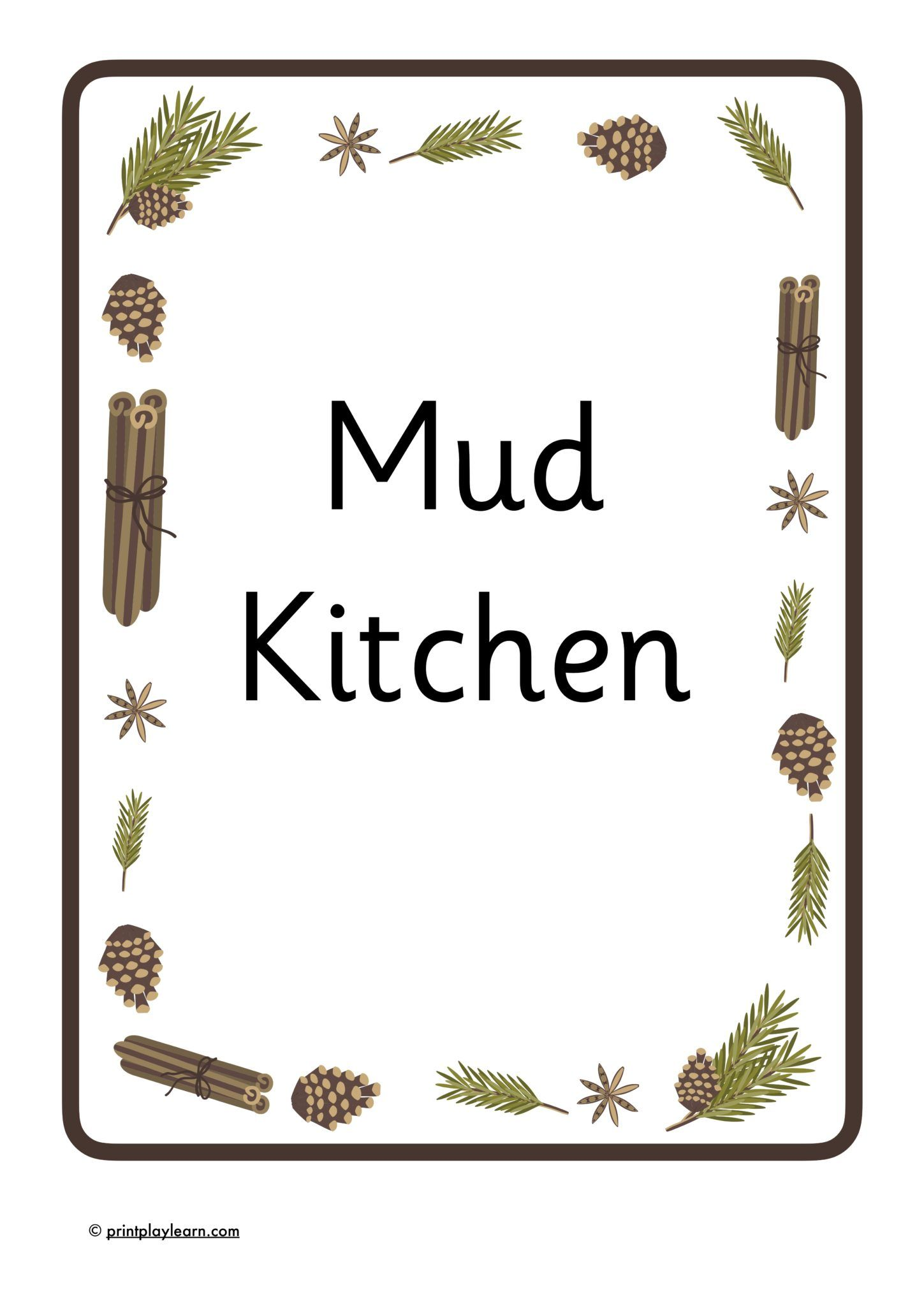 Mud Kitchen Role Play Area , Free Teaching Resources , Print