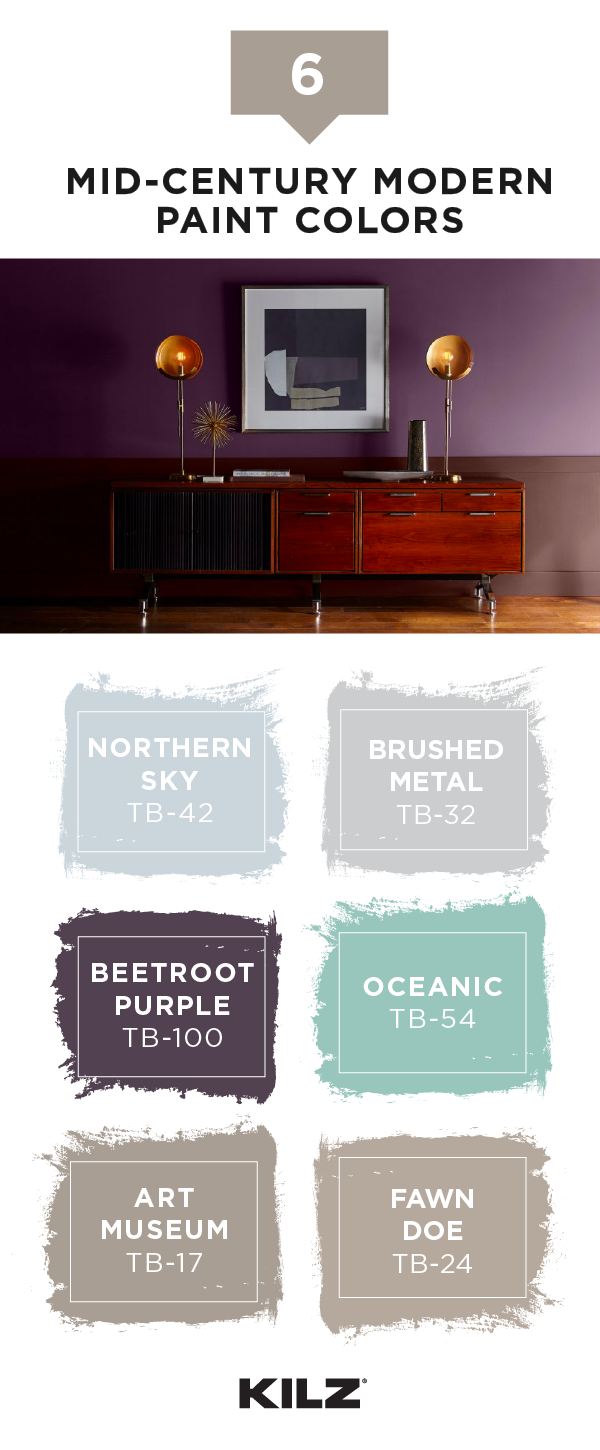 Role Of Color In A Mid Century Modern Look Modern Living Room