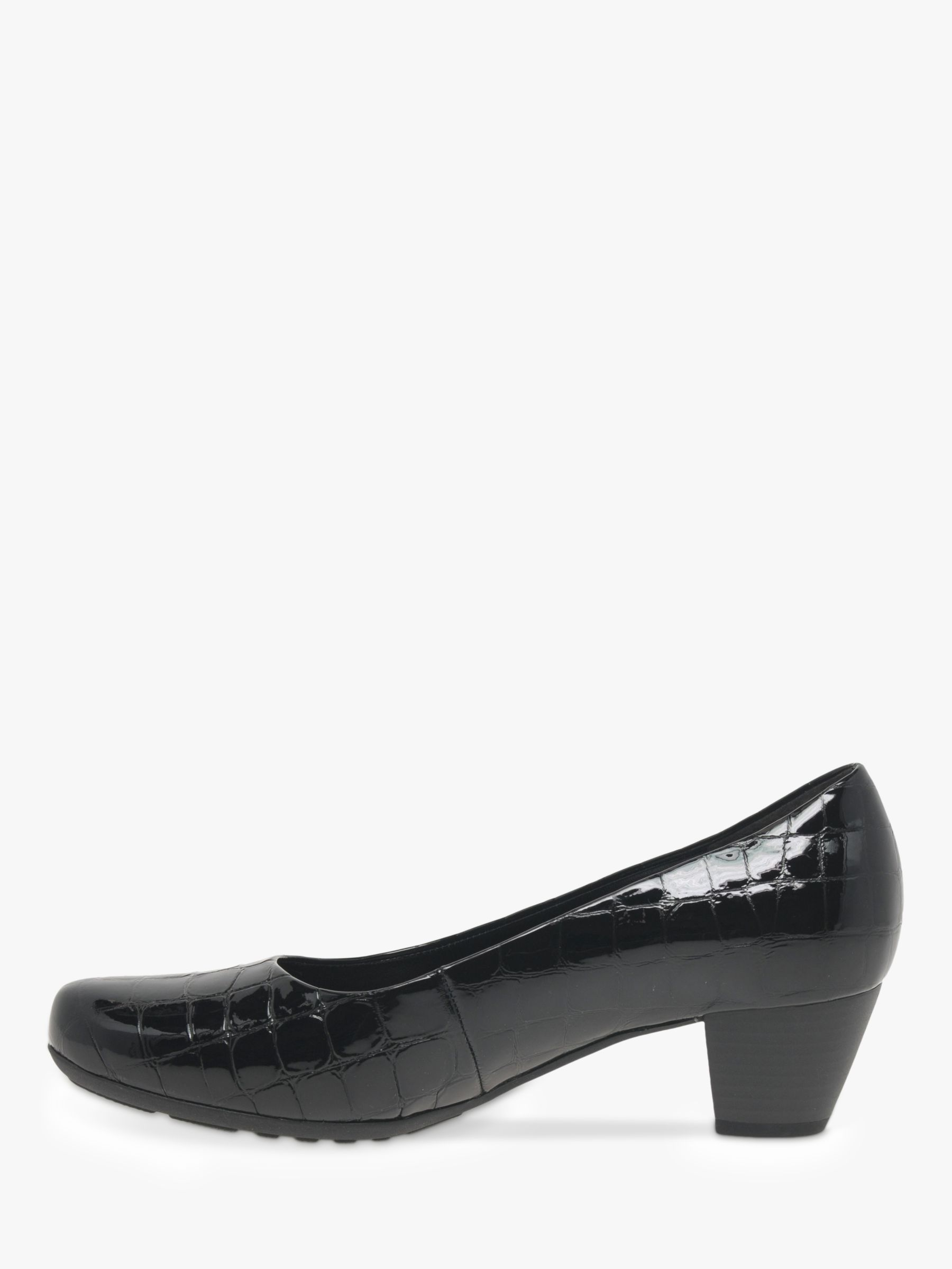 Gabor Brambling Patent Leather Wide Fit