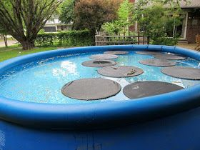 Floating Pool Cover Lilly Pad Solar Heater I Would Use The Solar Cover You Got With The Pool And Either Use The Solar Pool Cover Solar Pool Heating Solar Pool