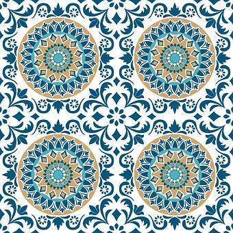 Tile Vintage Pattern Design Unique Area Rugs Vintage Pattern Design Blue Area Rugs