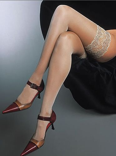 70a2eec46f35c Cervin Rive Gauche Silk Hold Ups. In Stock Online at UK Tights