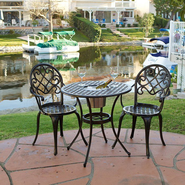 Best Cast Aluminum Outdoor Patio Bistro Furniture Sets Reviews Patio Furniture Accessories Outdoor Bistro Set Outdoor Decor Outdoor Patio Furniture Sets
