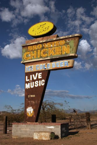 Broasted Chicken Sign Cool Neon Signs Vintage Neon Signs Vintage Signs