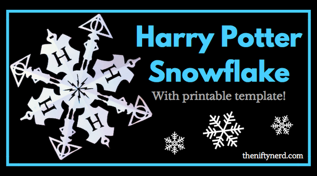 Harry Potter Snowflake Printable Template  Yes IM A Nerd