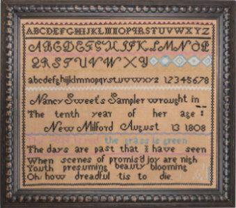 Nancy Sweet Reproduction 1808 Cross Stitch Kits Cross Stitch Samplers Cross Stitch
