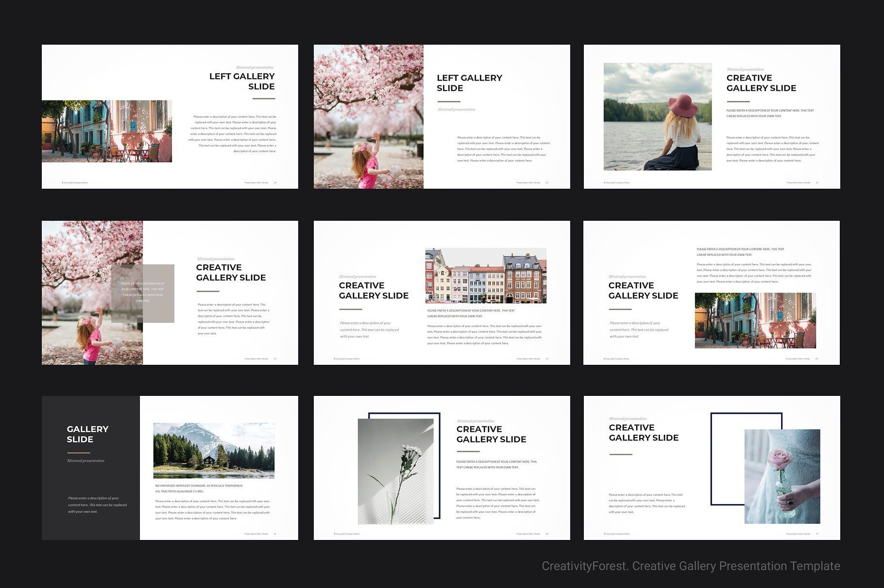 Creative Gallery PowerPoint Template #project#creative#ideas