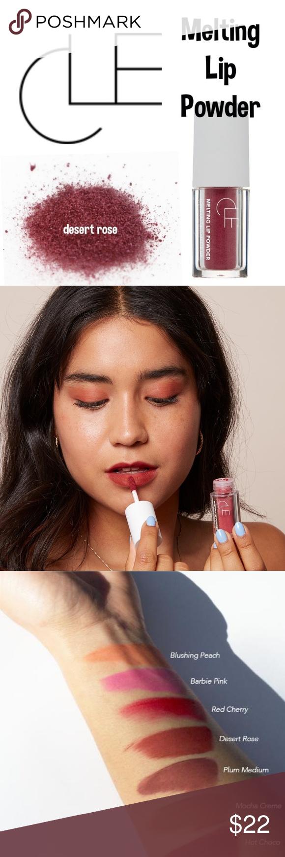 Cle Melting Lip Powder Matte Cheek Lip Tint Clē S Melting Lip Powder Is An Innovative Lip Product Transforming Pigmented Powder Into A Lo Lip Tint Lips Tints