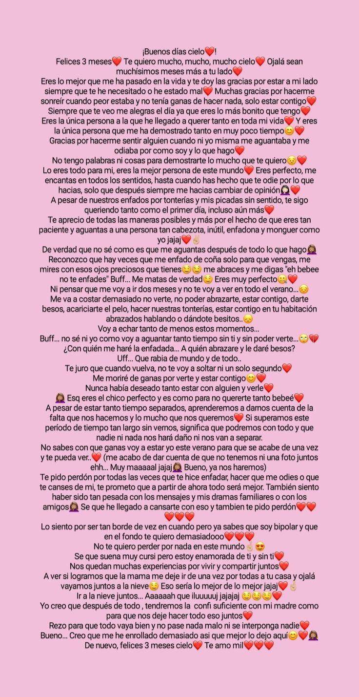 3 Meses Palabras Para Mi Novio Mensaje De Amor Para Novio Escritos Para Mi Novio