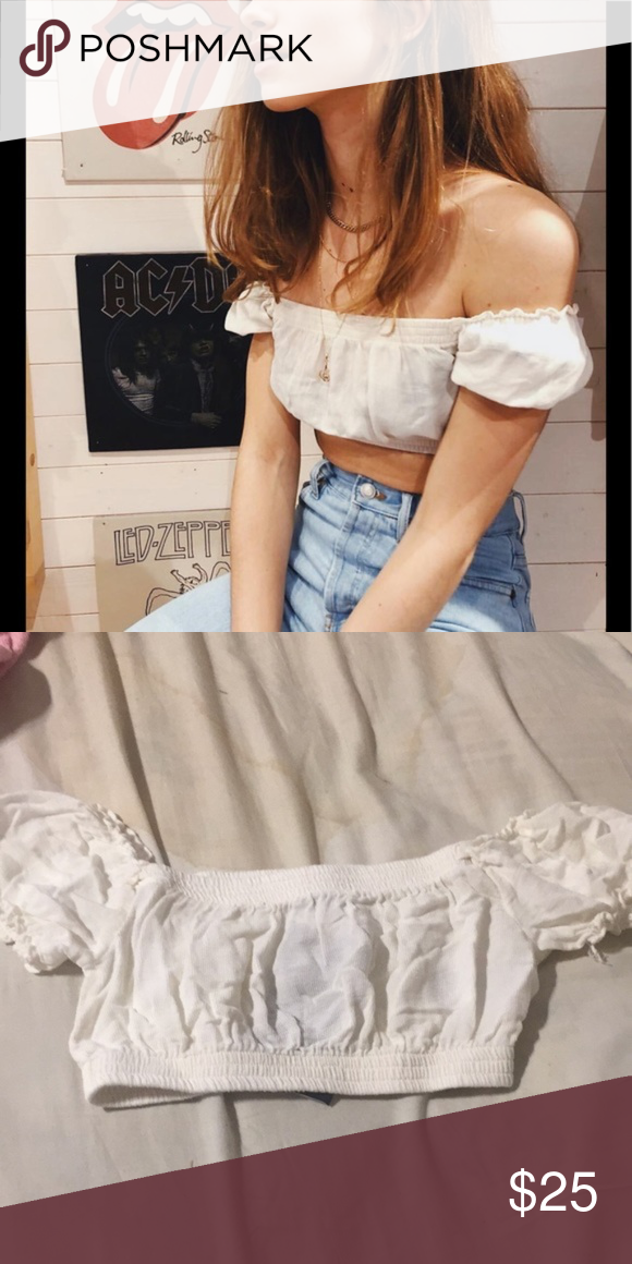 dfe0c64fa197 Brandy Melville Mira top Off shoulder off-white crop top from Brandy  Melville. Worn