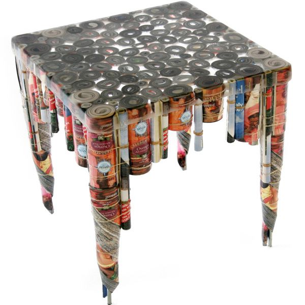 Table made from recycled materials