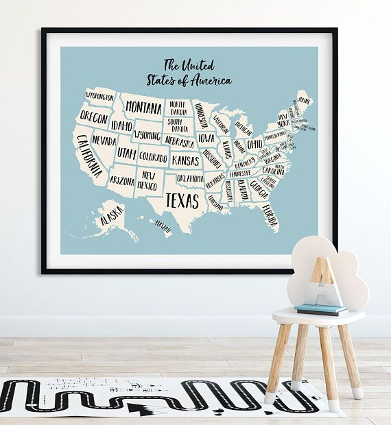 Map wall art us map print world map wall art nursery decor map wall art us map print world map wall art nursery decor travel map world map poster travel planner travel gift map art wall art gumiabroncs Image collections
