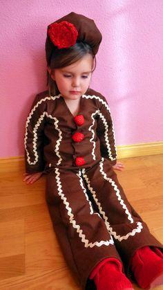 Disfraz de galleta de navidad o galleta de jengibre  Homemade ginger bread  cookie costume 0ef9137a5416