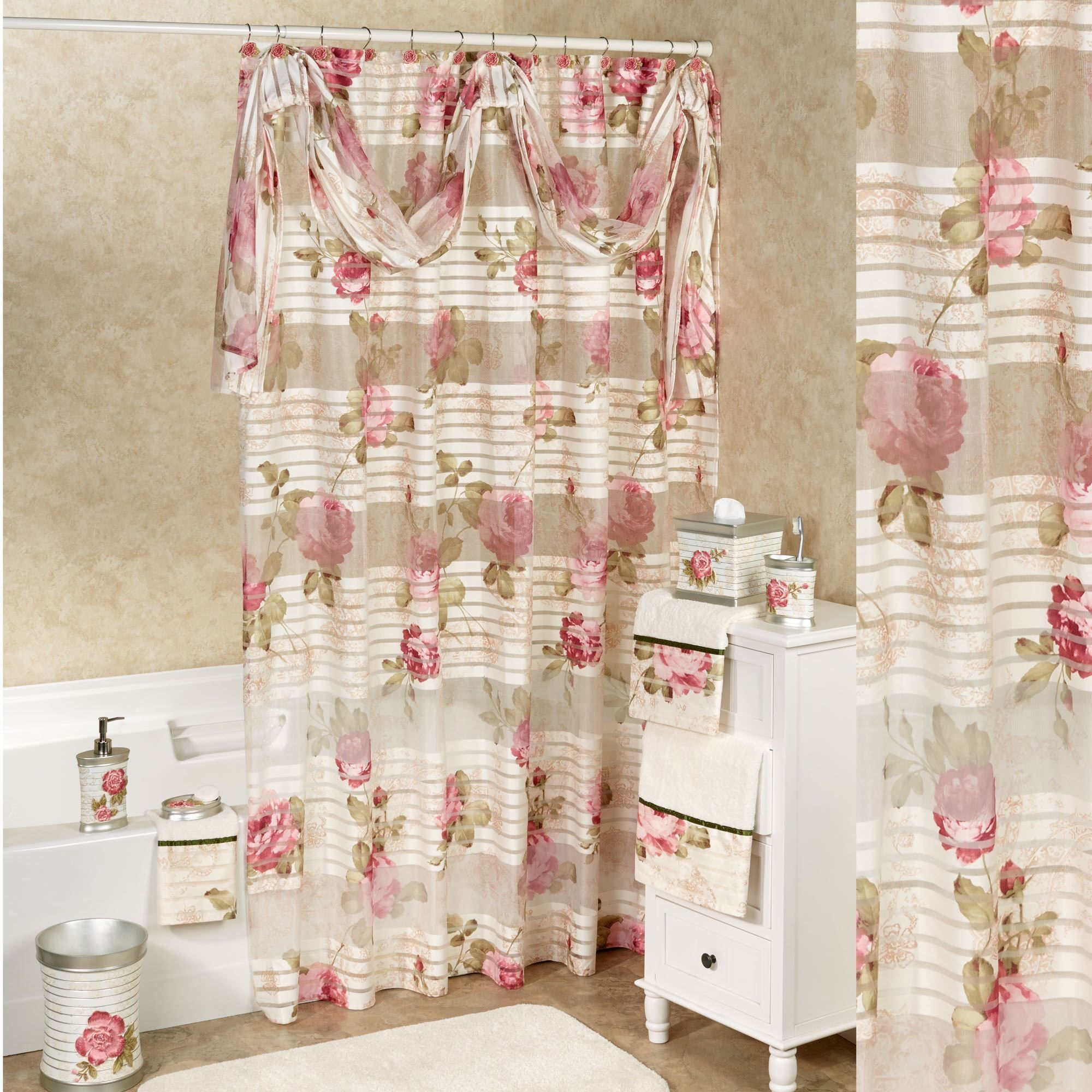 vintage rose shower curtain there are