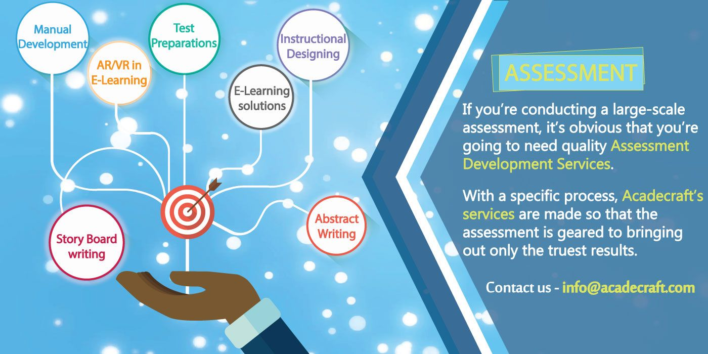 Acadecraft is a global assessment development service