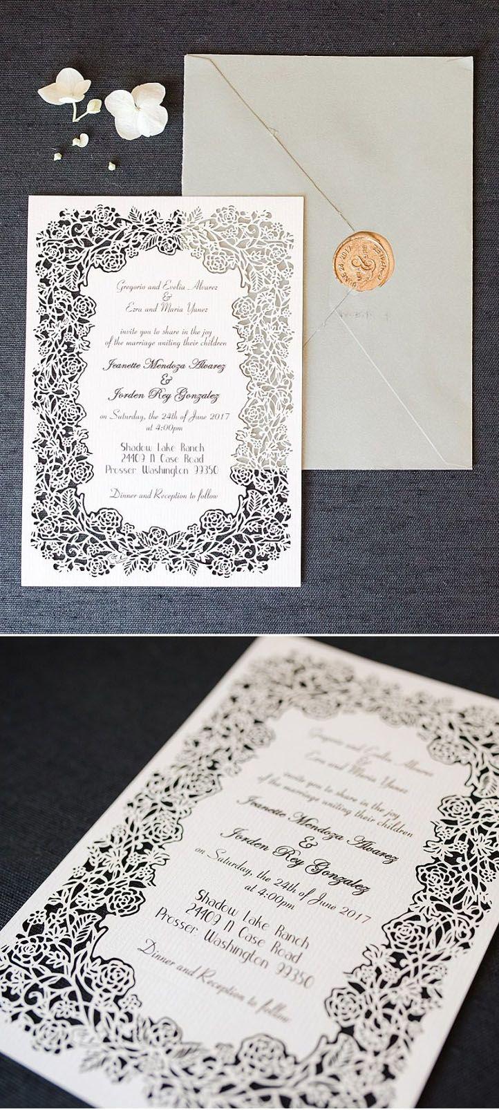 Cheap Blosssom Laser Cut Wedding Invitations Efws003 Laser Cut