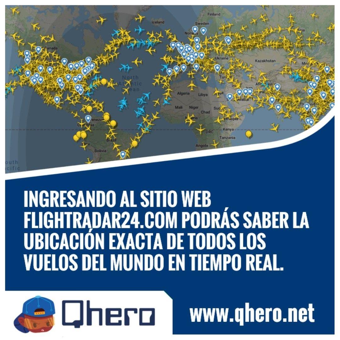 Podrás Ver En Tiempo Real Todos Los Vuelos A Nivel Mundial Qhero Net Vuelos Aerolínea Aviones Tiemporeal Realtime Enlinea Online Cielo Am In 2020