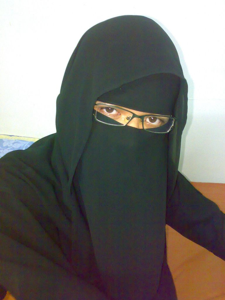 Niqab with Glasses