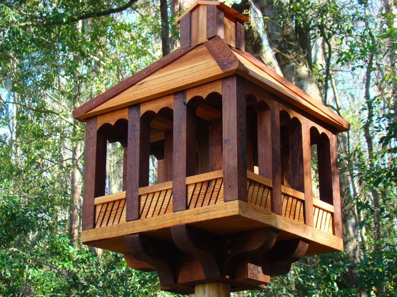 Gazebo Bird Feeder Pole Mounted Large Gazebo Wood Bird Feeder