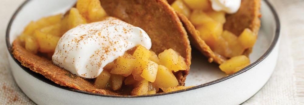 Mini Apple Pie Dessert Tacos (Vegan)