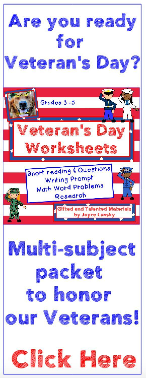 Worksheets Gifted And Talented Worksheets veterans day worksheets print and go activities math teacher activities
