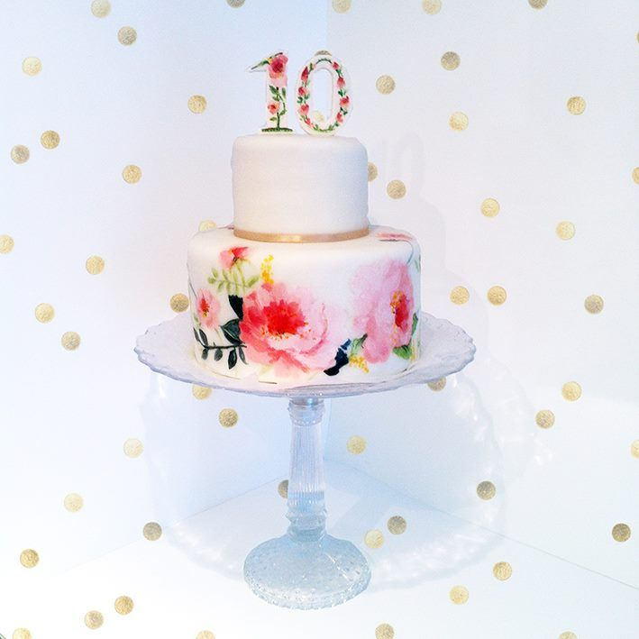 365.973.490 seconds of love - anniversary cake by www.yavescakeink.de