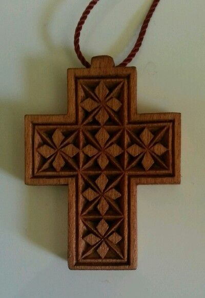 Chip carving cross.