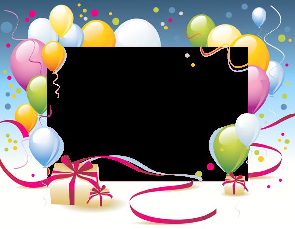 Birthday Transparent PNG Photo Frame | frames & borders | Pinterest ...