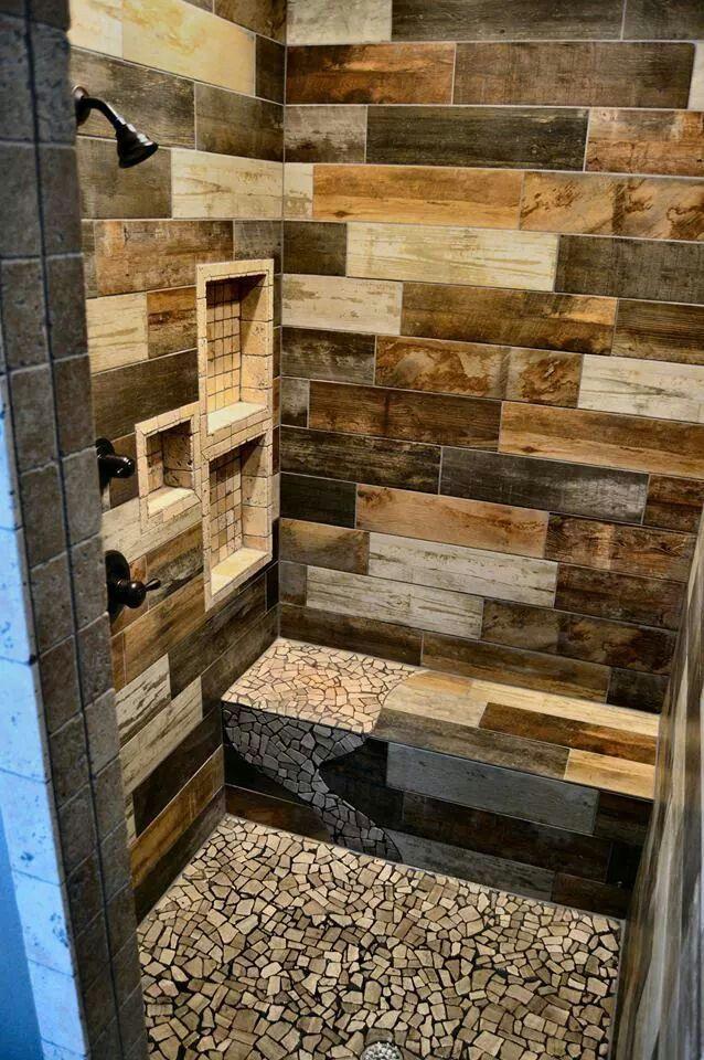 Custom Tile Shower Www Facebook Com Hendersontile Rustic
