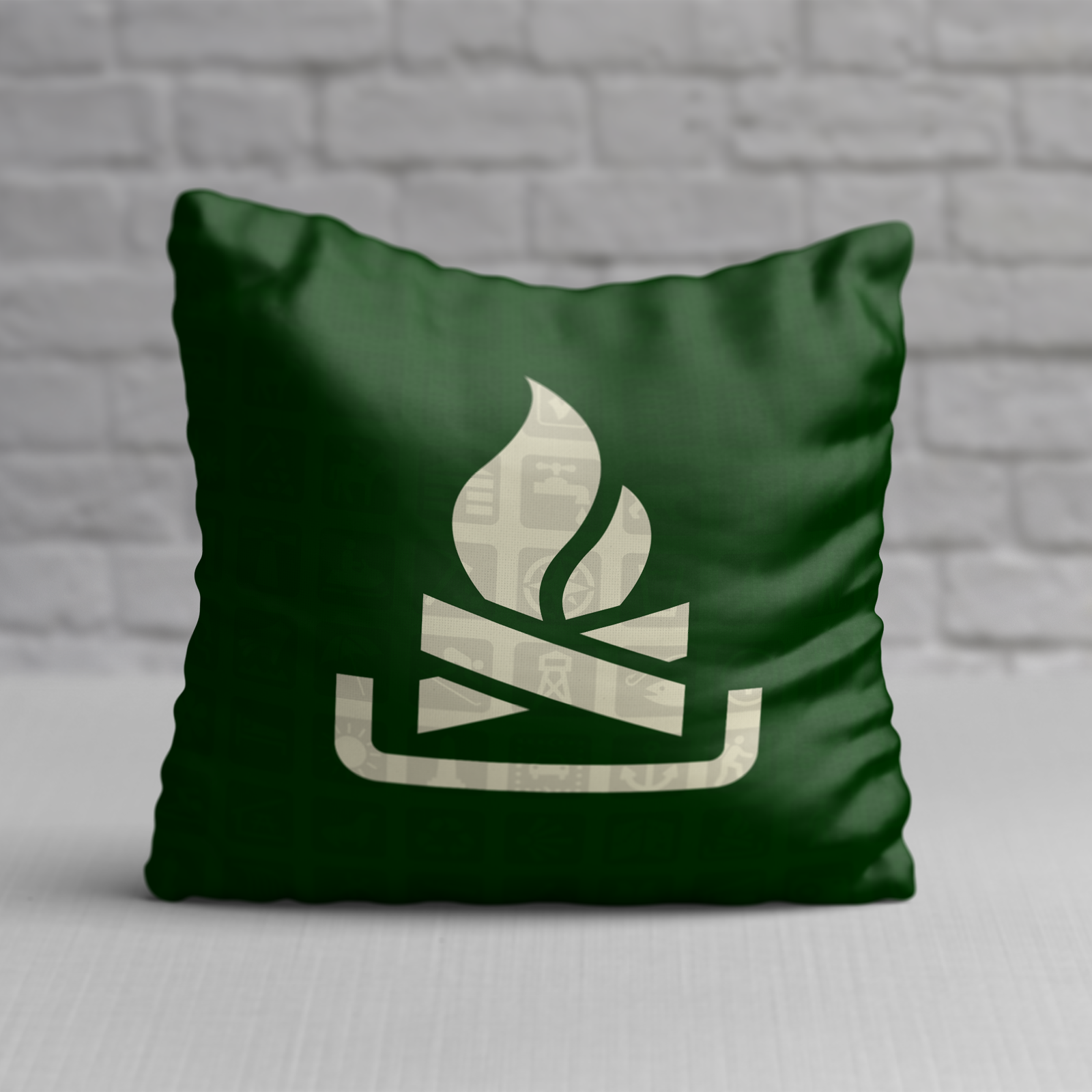 Campfire nps map symbol pillow products