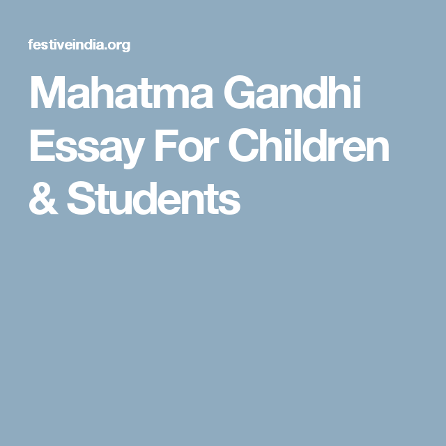 Gandhi research paper