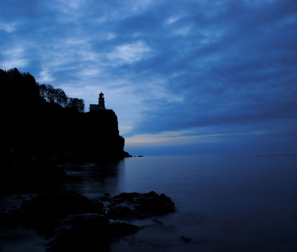 Landscape Lighting Mn: Split Rock Lighthouse. Between Duluth And Grand Marais