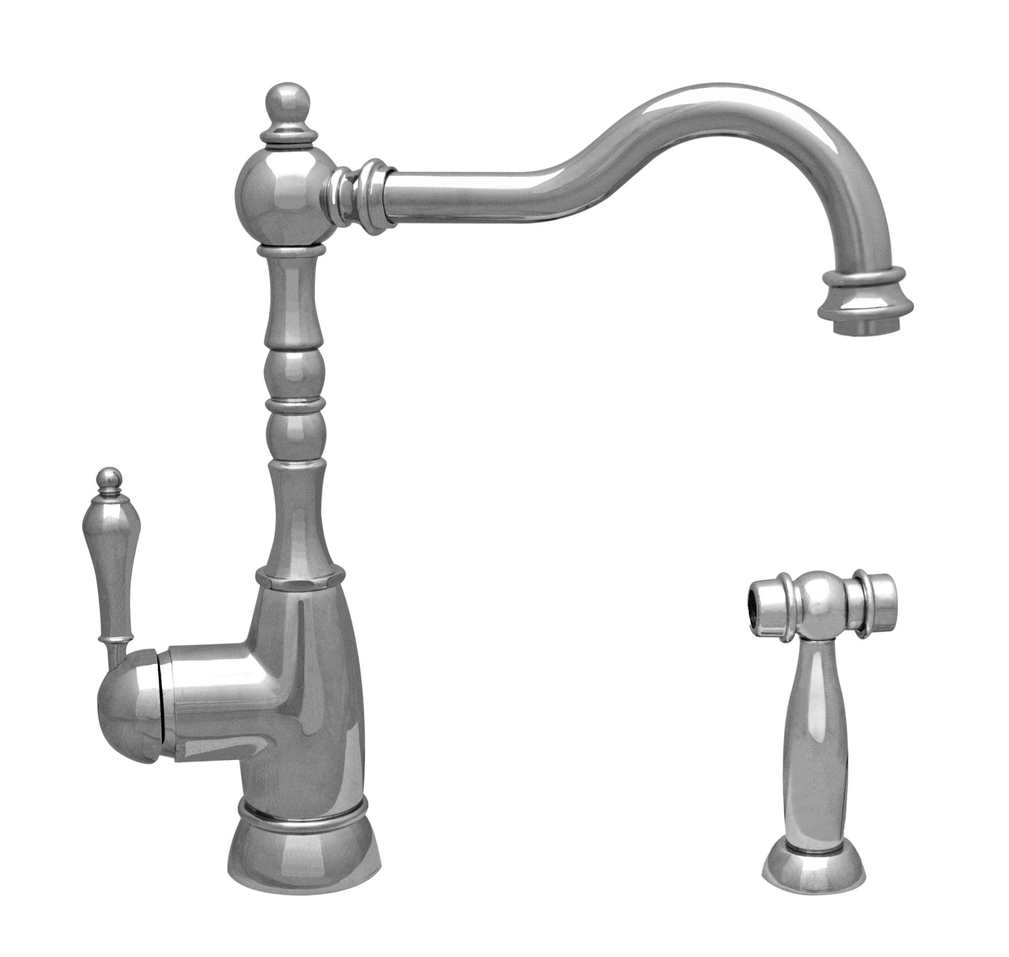 Whitehaus WHEG-34681 Single Lever Kitchen Faucet with Solid Brass ...