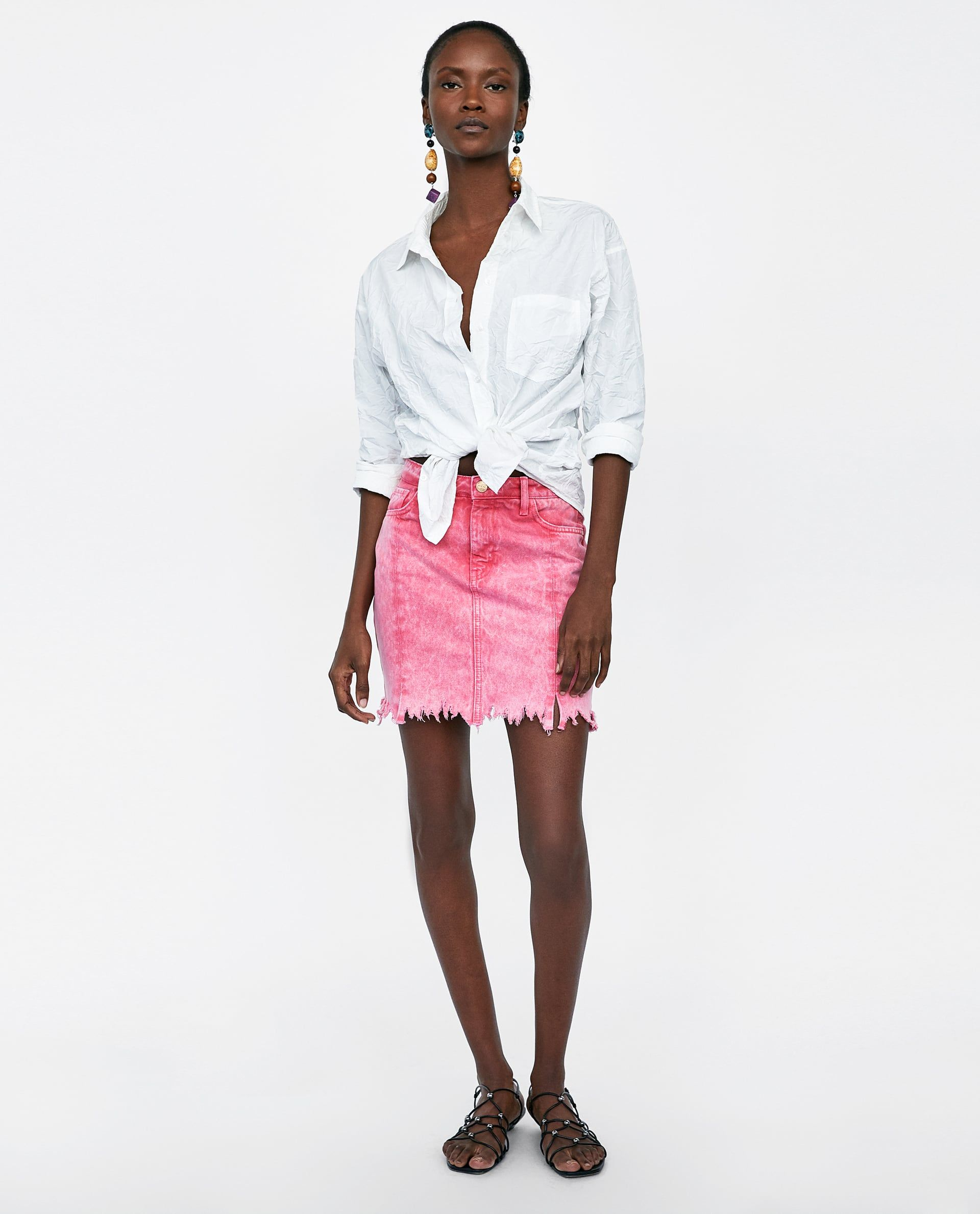 6ac2879371 Z1975 flared jeans | Zara 2018 | Mini skirts, Skirts, Zara women