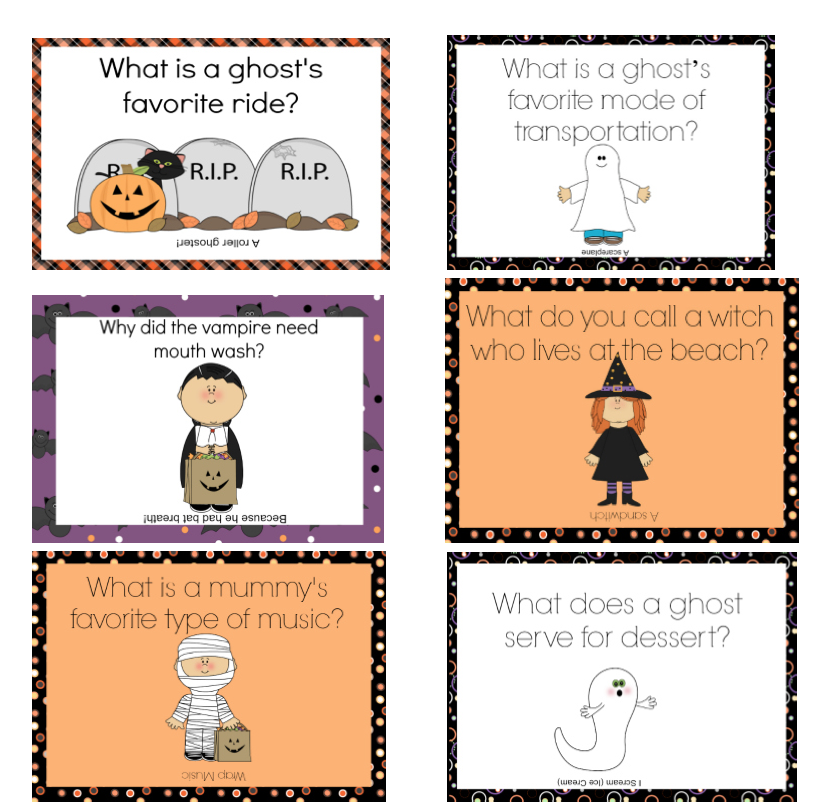 FREE Halloween Lunchbox Notes Using Halloween Jokes From ...