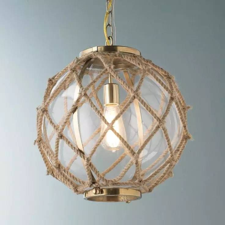 Nautical rope home decor beach house beach cottage pinterest coastal nautical inspired pendant lighting thats perfect for a kitchen or hallway aloadofball Images