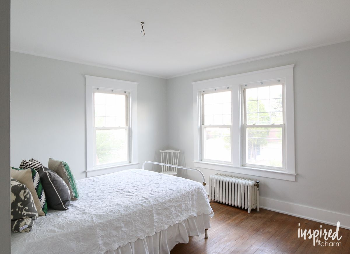 The Bedroom is Painted Inspired by Charm Reserved White