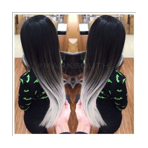Hair Color How To Ghostly Silver Ombre by Mark South ❤ liked on ...