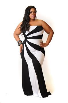 Awesome White And Black Plus Size Dresses Gallery ...