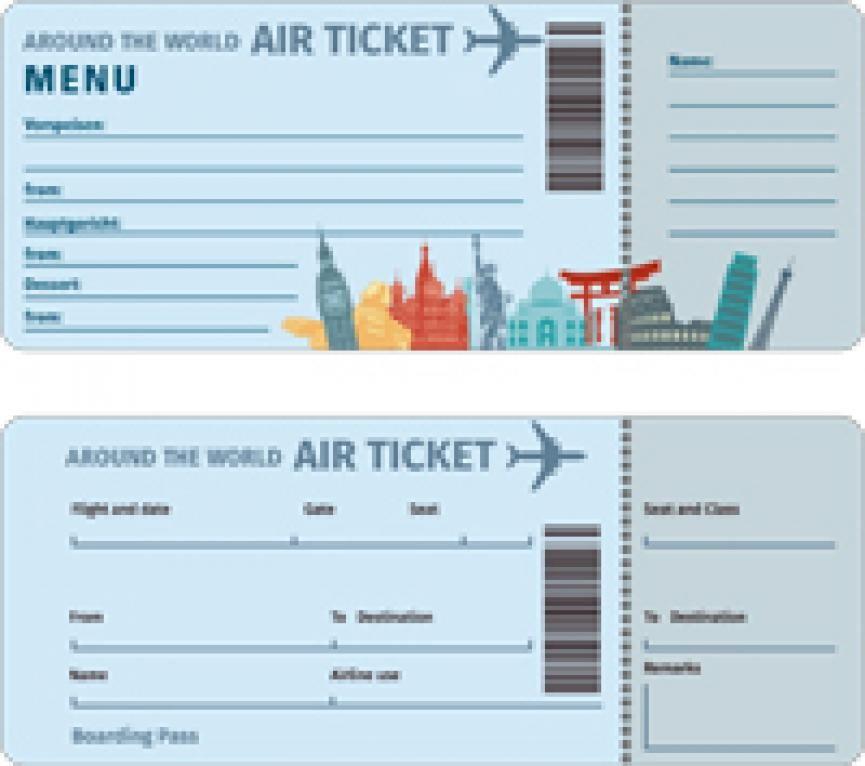 Gratis Download Flugticket Motive Flugtickets Ticket Und