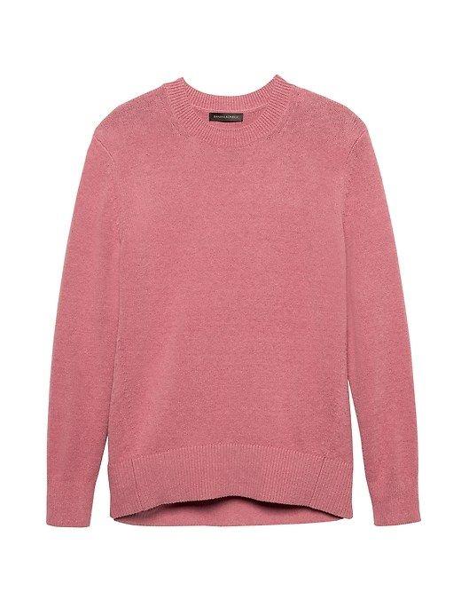 c3663a66d8 Banana Republic Womens Supersoft Cotton Blend Crew-Neck Sweater Dusty Pink